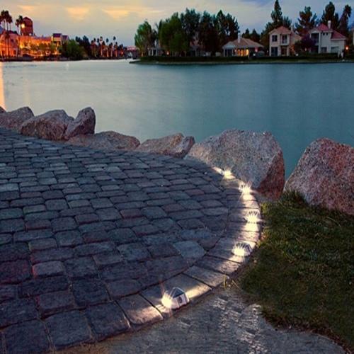 Solarbetrieben Lichtempfindlich LED Straßenbolzen-Lampe Licht für Garten Landschaft Straße Spazierweg