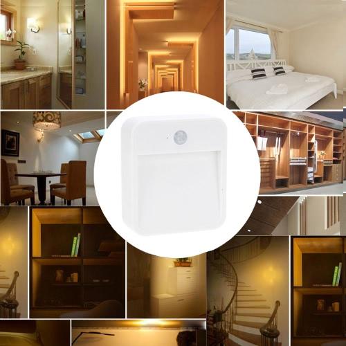 Lixada батарея питание движения датчик светодиодный свет портативный Wide-угловой лампа ночного освещения с датчиком освещенности для ванной прихожей ночь свет везде