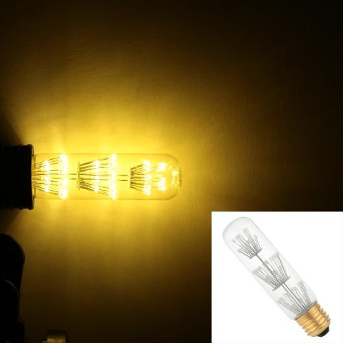 3W T10 LED Лампа Накаливания AC 220V E27 База Эквивалентно 30W Лампа Ретро Эдисон-Дизайн Теплая Лампа для Ретро Праздника Рождества Украшения Фестиваля Тепло-белый 2200K