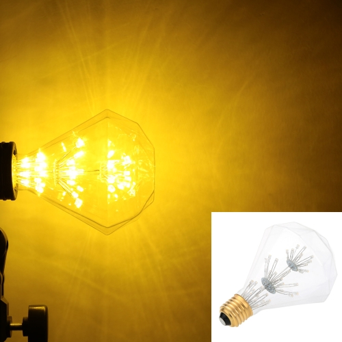 3W G95 LED Bulb Light AC 220V E27 Base Antique Diamond Shape 30W Equivalent Vintage Edison Design Warm Light