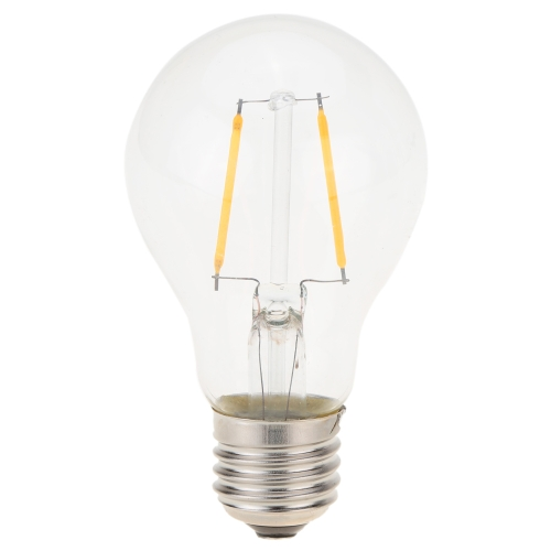 2W LED A19 Filament Bulb AC 220V E27 Base 20W Equivalent Vintage Retro Holiday Christmas Festival Decorations Warm White 2200K