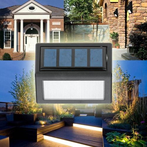 Lixada аккумуляторная солнечной энергии 6 светодиодов 0.36W 12LM лампа световой датчик настенное крепление для сада дверь вход двор пути наружного использования