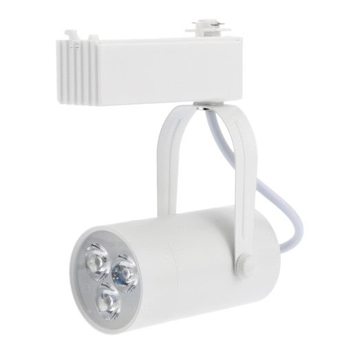 3W LED Track Rail Light Spotlight Adjustable for Mall Exhibition Office Use AC85-  265V