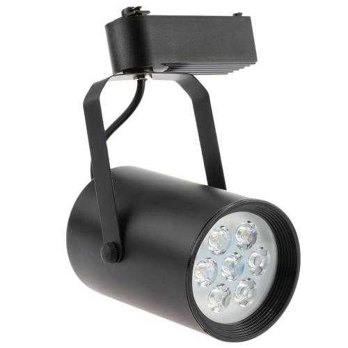 7W LED COB Track Rail Light Spotlight Adjustable for Mall Exhibition Office Use AC85- 265V