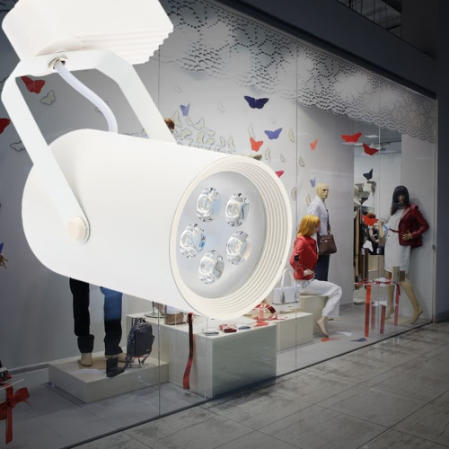 9W LED COB Track Rail Light Spotlight Adjustable for Mall Exhibition Office Use AC85- 265V