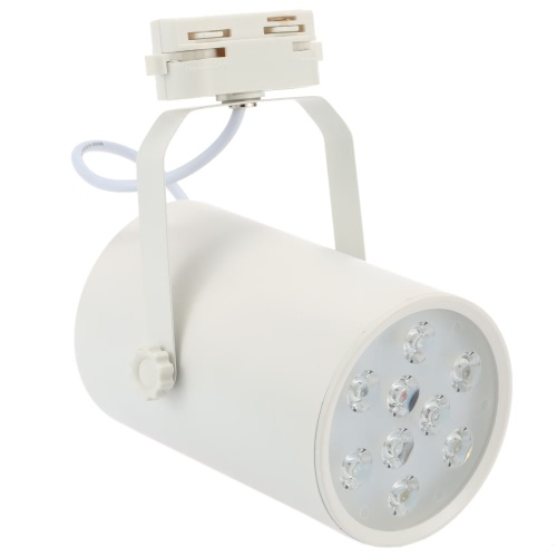9W LED Track Rail Light Spotlight Adjustable for Mall Exhibition Office Use AC85- 265V