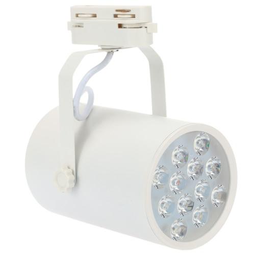 12W LED COB Track Rail Light Spotlight Adjustable for Mall Exhibition Office Use AC85-265V