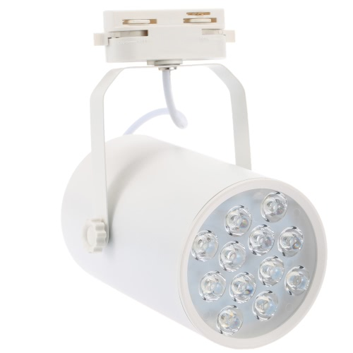 12W LED Track Rail Light Spotlight Adjustable for Mall Exhibition Office Use AC85-265V