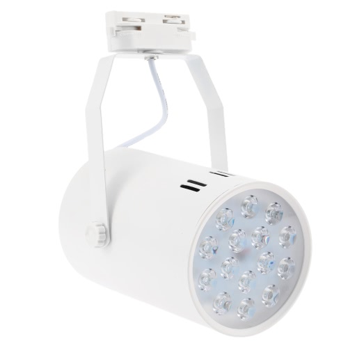 15W LED Track Rail Light Spotlight Adjustable for Mall Exhibition Office Use AC85-265V