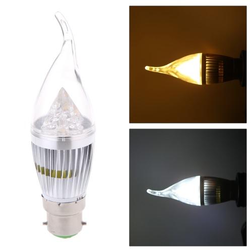 AC220V 10W B22 светодиодные свечи лампы света Серебряный Rawai пузырь затемняемый люстра лампа практических декоративные энергосберегающие дома освещения приборов теплый белый