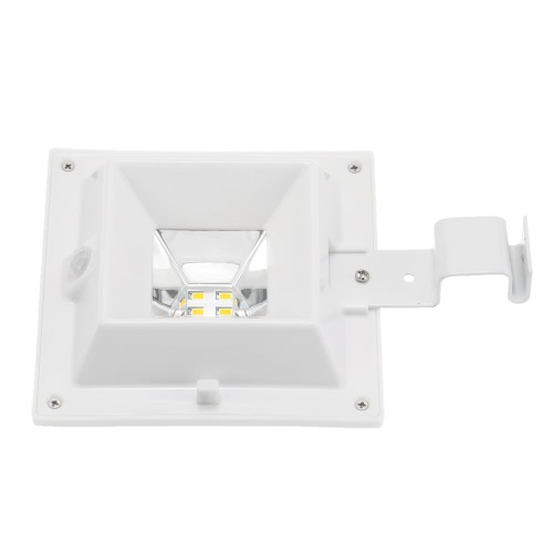 2W 4 LEDs Solar Powered PIR Motion Sensor Wall Mount Lamp Security Outdoor Light  Dusk to Dawn Auto On/Off with Bright/Dim Mode for Garden Door Street Path Yard