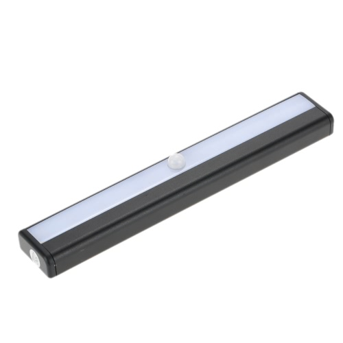 10 LEDs 1W Night Light Under Cabinet Closet Lamp PIR Motion Activated Sensor Light Control Portable Rechargeable Battery Operated Magnetic Base Stick-on Anywhere for Stair Step Drawer Bar Storage