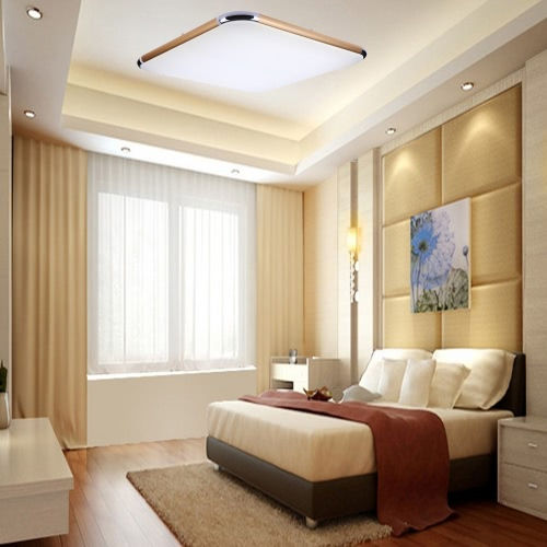 40W 144LEDs Surface Mounted Modern Ceiling Light for Living Room Light Fixture Indoor Lighting Decorative Lampshade Warm White + White Brightness Adjustable with A Remote Control