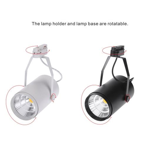 20W 1800LM AC85-265V COB рельсу светодиодные лампы прожектор регулируемый для одежды Торговый центр Магазин Выставочное бюро использовать черный фото