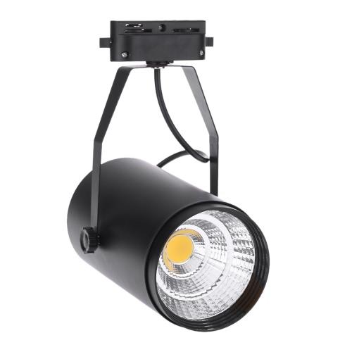 20W 1800LM AC85-265V COB рельсу светодиодные лампы прожектор регулируемый для одежды Торговый центр Магазин Выставочное бюро использовать черный