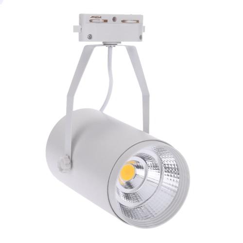 20W 1800LM AC85-265V COB рельсу светодиодные лампы прожектор регулируемый для одежды Торговый центр Магазин выставочного офисного использования White