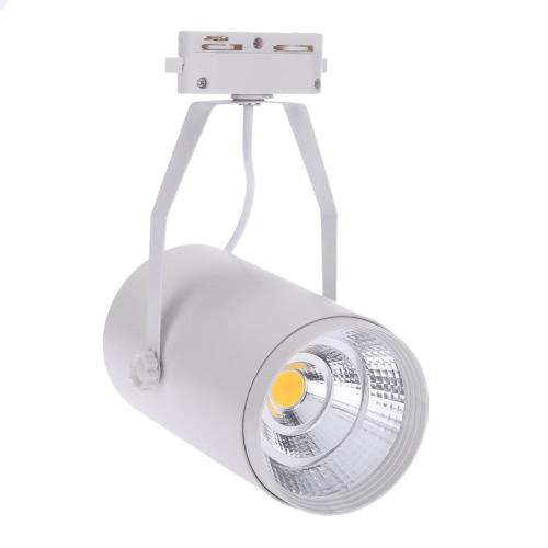 30W AC85-265V 2700LM COB Track Rail LED Light Spotlight Lamp Adjustable for Shopping Mall Clothes Store Exhibition Office Use White
