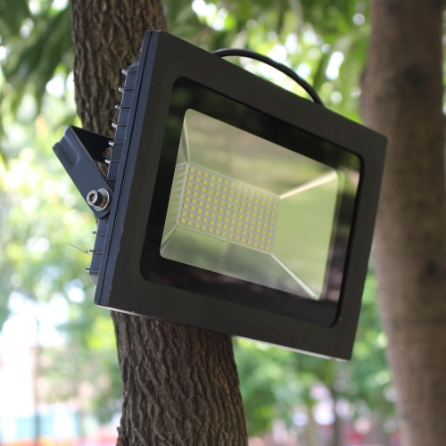 60W 112LEDs 5000-5500LM SMD2835 AC180-240V Ultrathin Spotlight Projecteur résistant à l'eau Jardin Paysage Parking Lot Shopping Mall Building Billboard Lighting utilisation