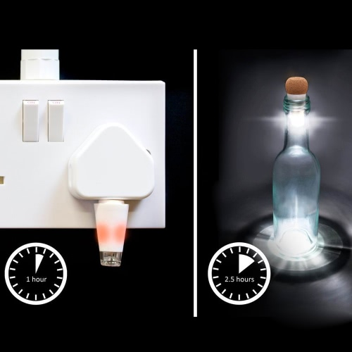 Hexagon Корк Shaped перезаряжаемые USB LED Night Light Супер яркие пустой бутылки вина Лампа для партии Патио Рождество