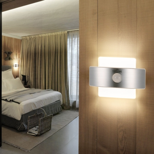 Tomshine Rechargeable PIR Body Motion Induction Sensor Pared de la noche Luz