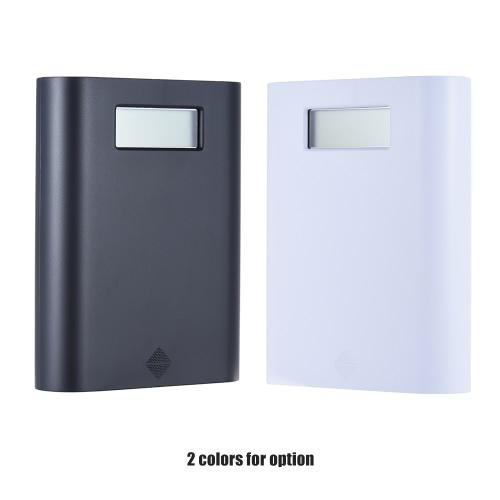 Soshine E3S Портативный ЖК-дисплей 4 Слоты 18650 внешнее зарядное устройство держатель Box Дело DIY Power Pack Kit Компактный резервный источник питания с Dual-портом USB - белый