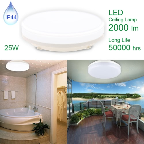 25W IP44 2000LM LED Round Ceiling Light Energy Class A+