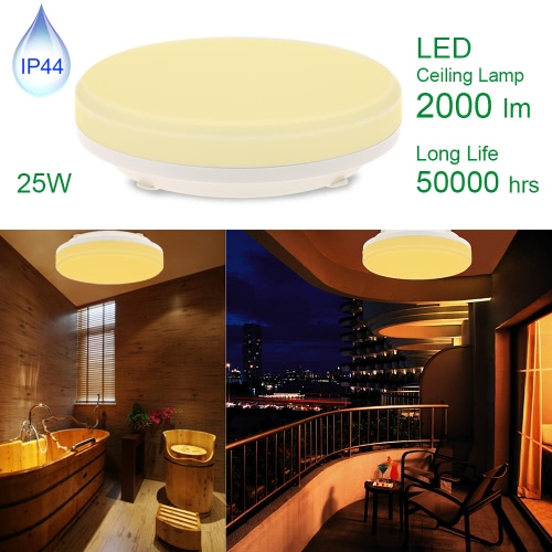 LED 25W IP44 Ceiling Light Round 12 Inch 3000K/4000K 2000LM 100W Equivalent Warm White/ Natural White for Bedroom Living Room Kitchen Bathroom Corridor etc [Energy Class A+]