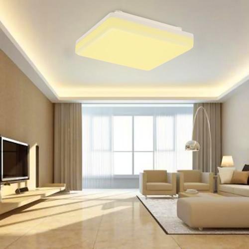 Luz de techo cuadrada LED de 25W IP44 2000LM Clase de energía A +