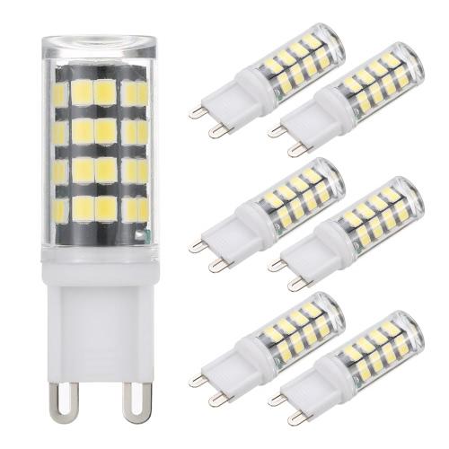 Tomshine 6 Pack 5W G9 Bulb 400LM 52LEDs Кукуруза Светло-белый / Теплый белый