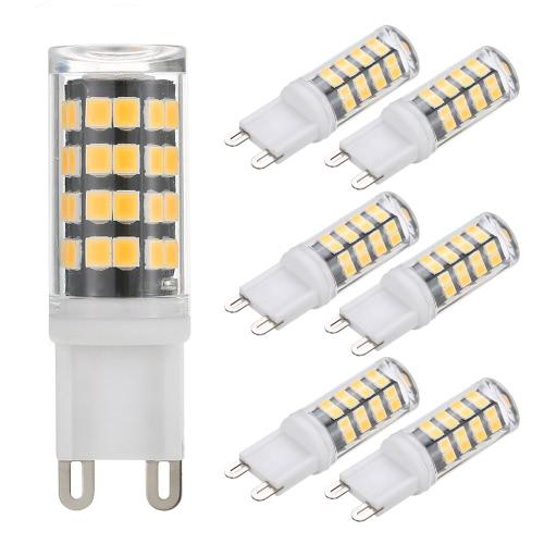 Tomshine 6 Pack 5W G9 Ampoule 400LM 52LEDs Maïs Blanc / Blanc Chaud