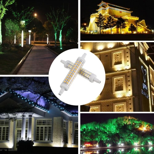 Tomshine 10W R7S 118mm Bulb 100W Halogen Bulb Equivalent AC100-265V 1100LM 120 2835SMD LED Corn Light 360 Degree Beam Angle Energy Saving Class A+ Lamp Non Dimmable for Flood Light Warm White