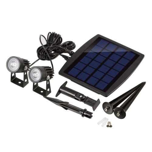 Tomshine 130LM 2W Dual Solar Powered Spotlights Blanc