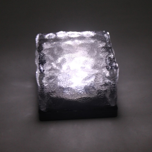 Tomshine 4шт IP67 водонепроницаемый Датчик света Креативный стекло камень кубика льда Солнечные Кристалл Кирпич светодиодные лампы ночь для сада во дворе Тропинка Патио Бассейн Пруд Открытый Xmas украшения