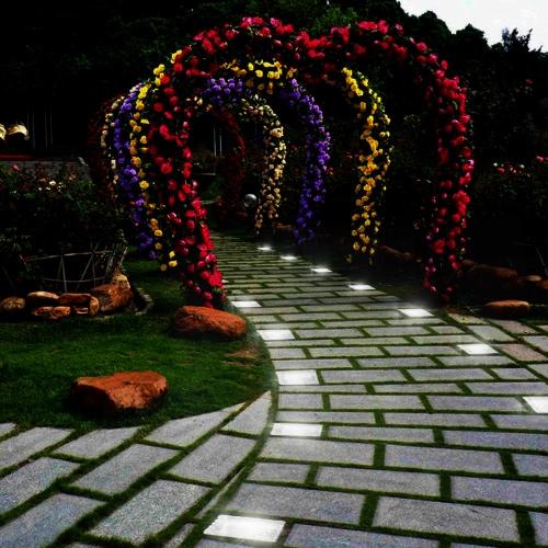 12X Solar Light Sensor Glass Stone Ice Cube Crystal LED Night Lamp Pond Garden