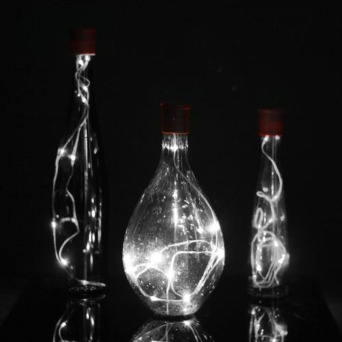 96CM 10LED 3 Modes Silicone Cap Fairy Light Creative Romantic Bottle Stopper
