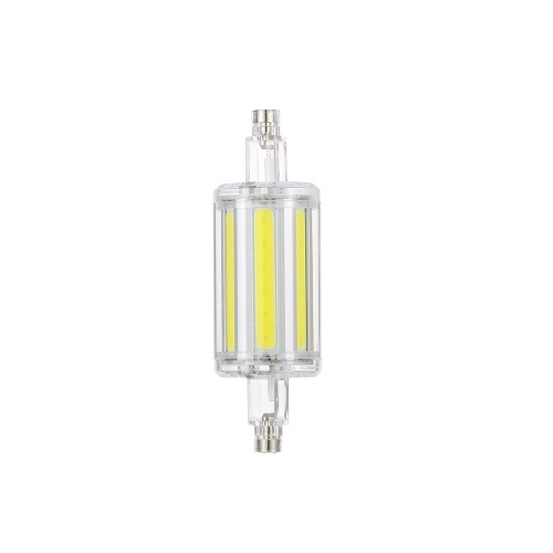 78MM R7S 360 Degree Beam Angle Corn COB 4W LED Light Transparent Color Plug Warm White Light