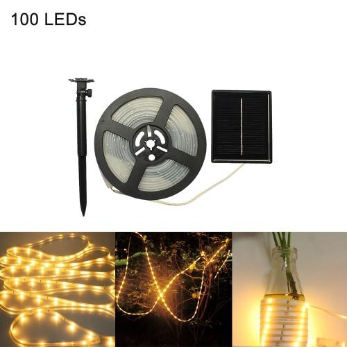 Luz de tira solar recargable flexible CutLEDs 100LEDs