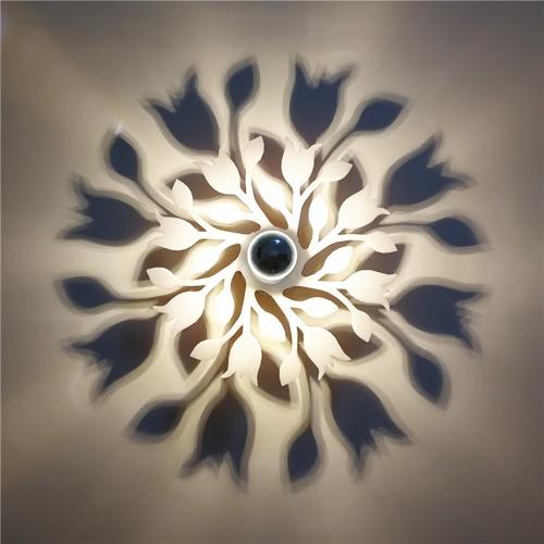 Modern Art Creative Wall Lamp Acrylic Carving Corridor Decorative LED Warm Light