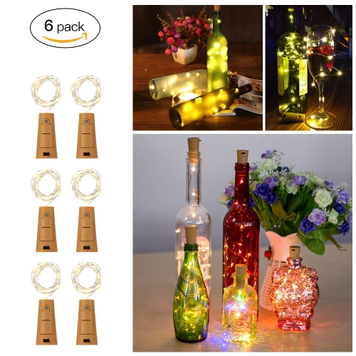Tomshine  Wire String Light 6PCS 75CM 15 LEDs High Bright Starry Fairy Creative Bottle Stopper DIY Decoration Atmosphere Lamp for Home Bar Party Wedding Christmas Xmas Gift