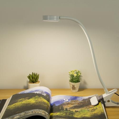 3W Светодиодная защита глаз зажим для зажимов Настольная лампа для настольных ПК Ультра яркий гибкий USB-кабель для гибкого чтения для чтения