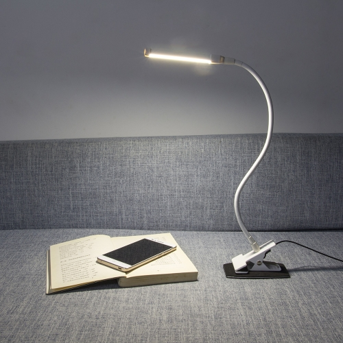 4W LED Eye Protection Clamp Clip Light Table Desk Lamp Ultra Bright Bendable USB Powered Flexible for Reading Working Studying