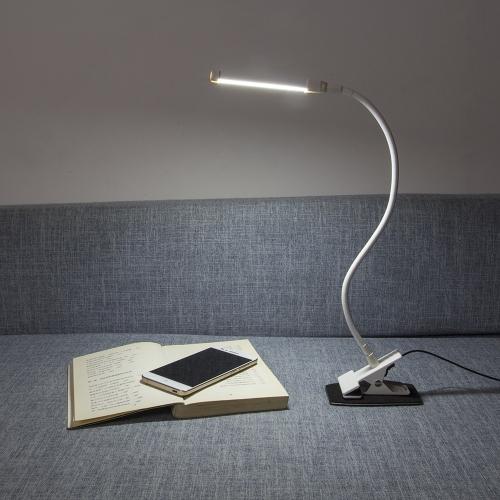 4W Светодиодная защита глаз зажим для зажимов Настольная лампа для настольных компьютеров Ультра яркий гибкий USB-кабель для гибкого чтения для чтения