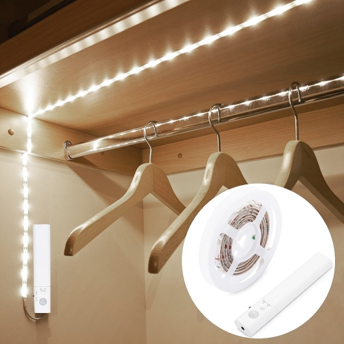 1M 30LEDs Sensitive PIR Motion Sensor Cabinet Strip Light with Remote