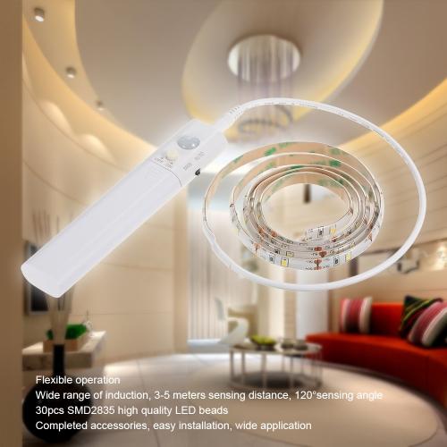 1M 30LEDs Sensitive PIR Motion Sensor Cabinet Strip Light with Remote Operated