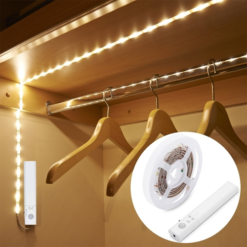 1M 30LEDs Sensitive PIR Czujnik ruchu Gabinet Strip Light z pilotem