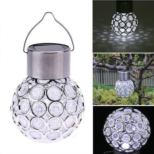 Lámpara LED esférica hueca LED recargable de energía solar