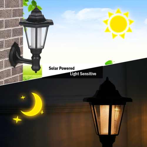 Hexagon Rechargeable LED Solar Powered Lawn Light