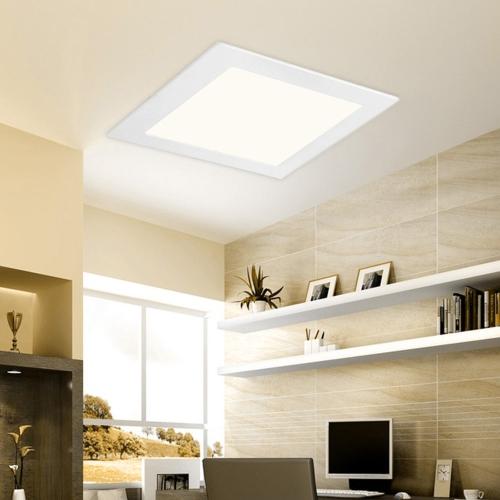 6W 9W 12W 15W 18W Ultra delgado cuadrado empotrado panel de techo a la luz