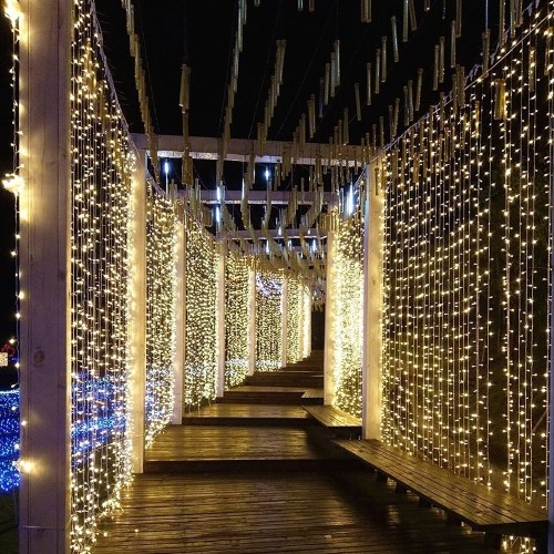 300 stücke 3 * 3 meter Flexible LED Vorhang Eiszapfen Lichterketten Fernbedienung