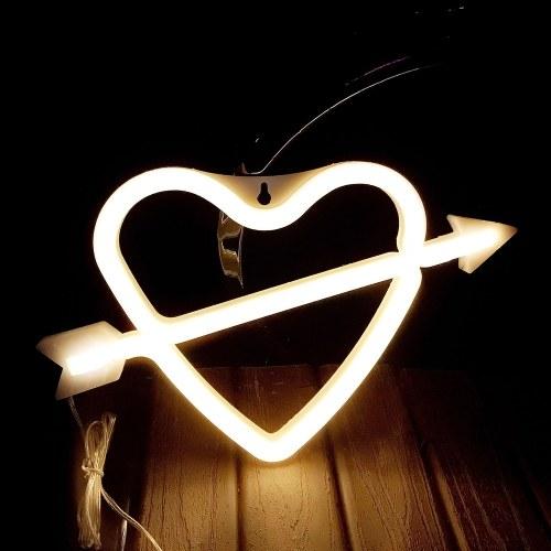 Светодиодный неоновый светильник Night Light Cupid Loving Heart Shape